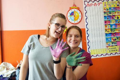 Anna und Maria in Äthiopien
